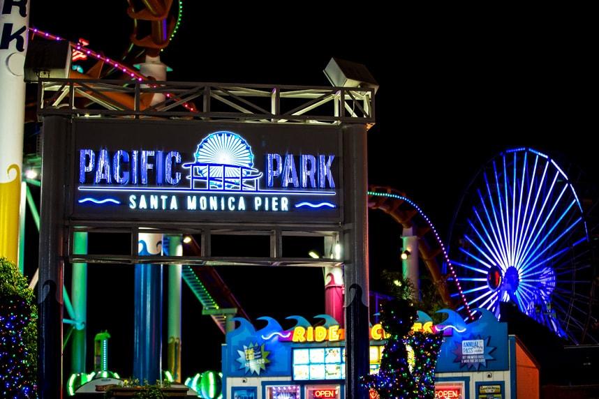Evening Visit to Santa Monica Pier Pacific Park