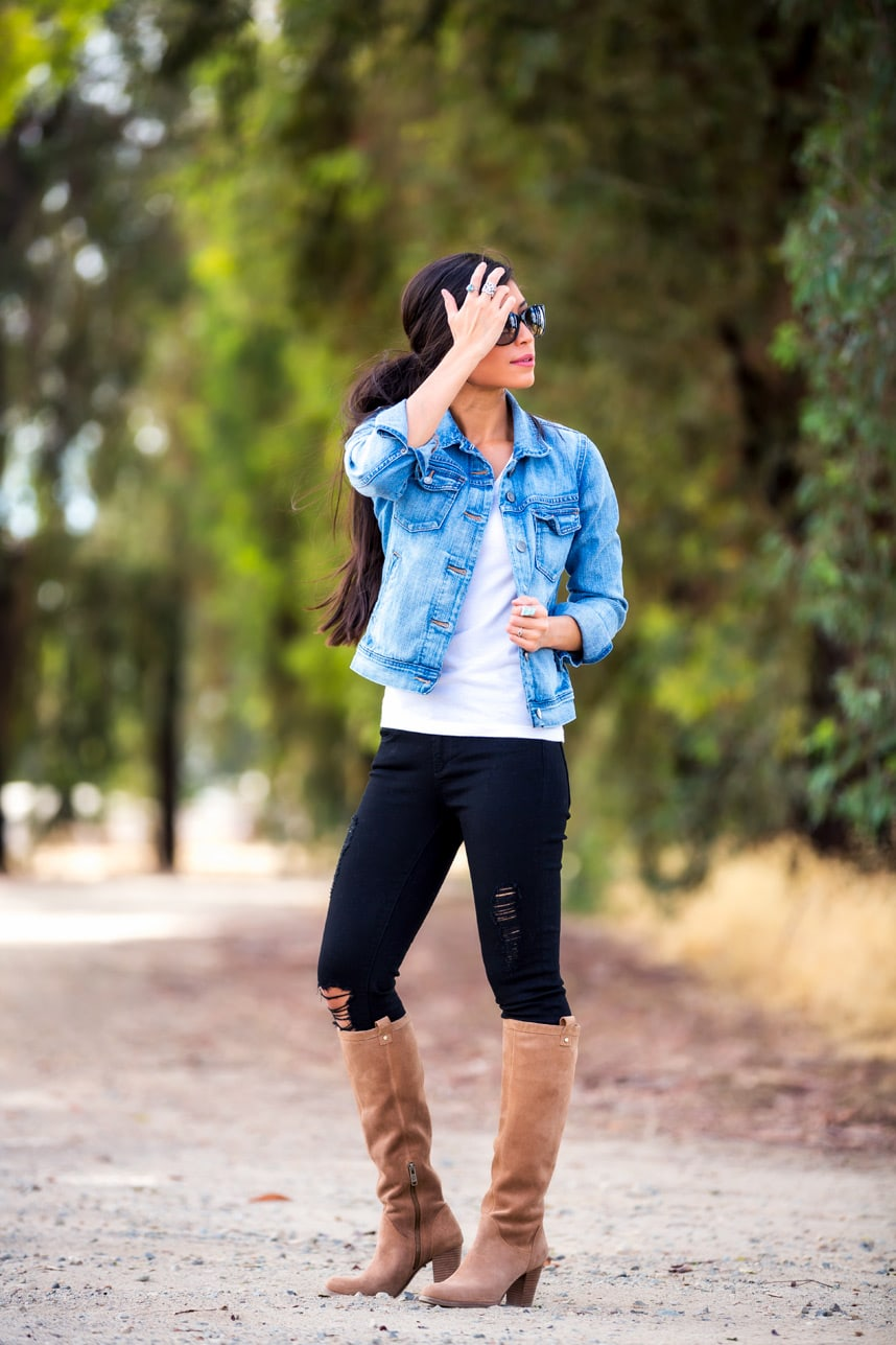 knee high boots styles - Love these outfit ideas and style tips on how to wear knee high boots